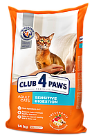 Сухой корм Клуб 4 лапы Premium  для кошек с чувствительным пищеварением 5КГ