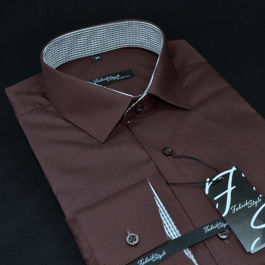 Сорочка чоловіча, приталена (Slim Fit), з довгим рукавом Fabrik Style L 157/14 80% бавовна 20% поліестер XL(Р)