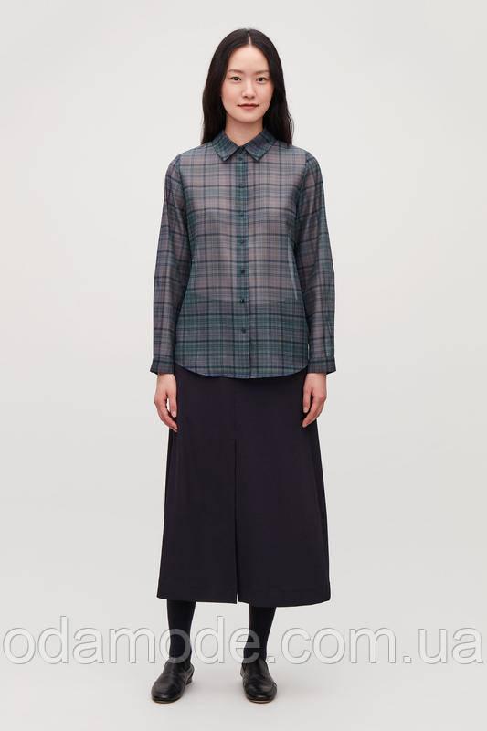 Блуза женская прозрачная синяя COS