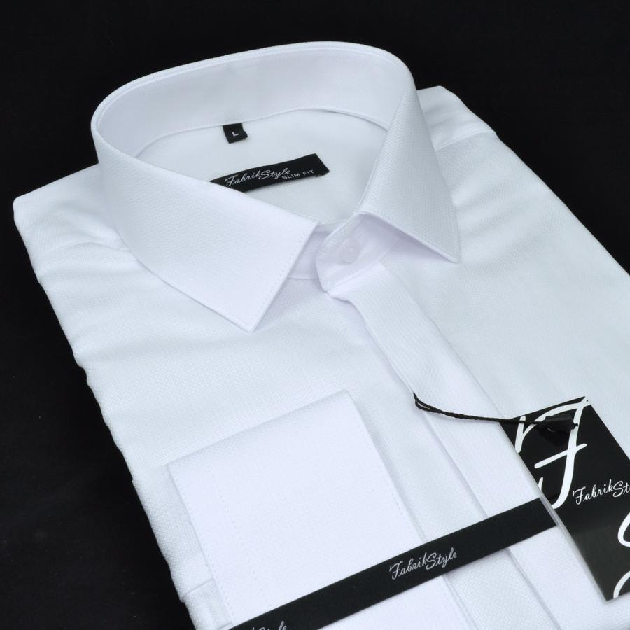 Сорочка чоловіча, приталена (Slim Fit), з довгим рукавом Fabrik Style 1602110-1PD 100% бавовна XXL(Р)