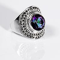 Серебряное кольцо с мистик топазом, 1383КТ, фото 1