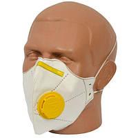 Маска защитная для лица Микрон FFP2. Упаковка с 10 ШТ! Респиратор с клапаном выдоха