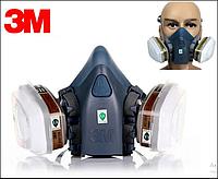 Респиратор 3М 7502+фильтры 6057+предфильтры 5911+фильтродержатели 501