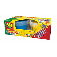 Незасыхающая масса для лепки - ДУЭТ(синий, желтый цвета, в пластиковых баночках), 04524S