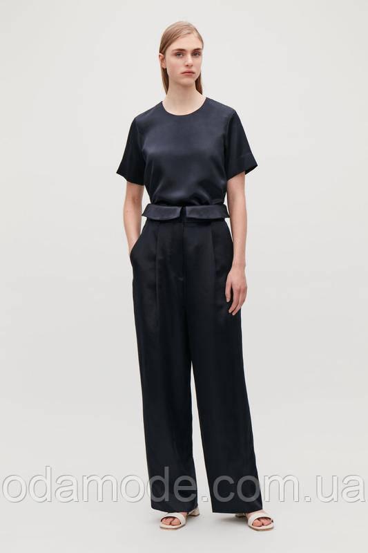 Женские брюки палаццо атласные COS