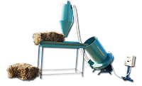 Измельчитель соломы и сена промышленный 380 В, 18,5 кВт (соломорезка, соломодробилка)
