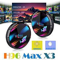 Смарт ТВ бокс H96 MAX X3 Amlogic S905X3 4/64Гб 5G WIFI 1ГГбит LAN bluetooth 4.0 USB3.0