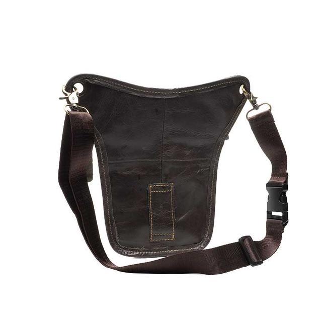 Шкіряна поясна сумка бананка на стегно Marrant сірого кольору