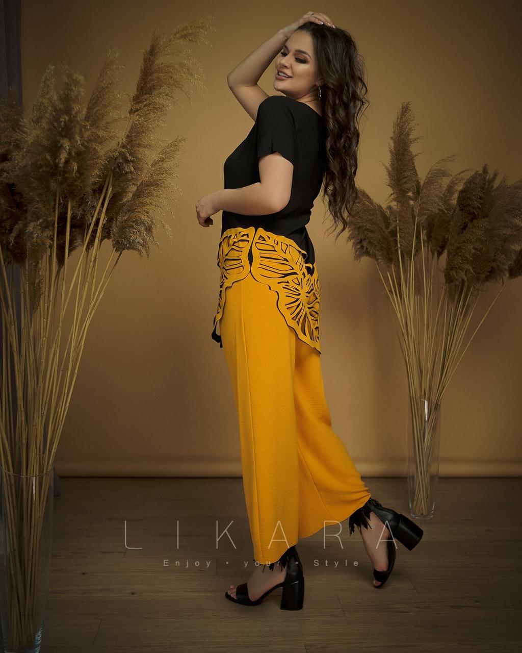 Костюм женский брюки + блуза батал