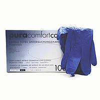 Перчатки нитриловые без пудры Ampri PURA COMFORT COBALT р.М, 50 пар