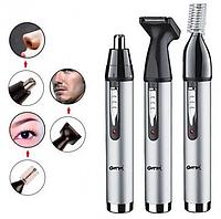 Бритва триммер машинка для волос усов и носа ProGemei GM-3107, 3 в 1