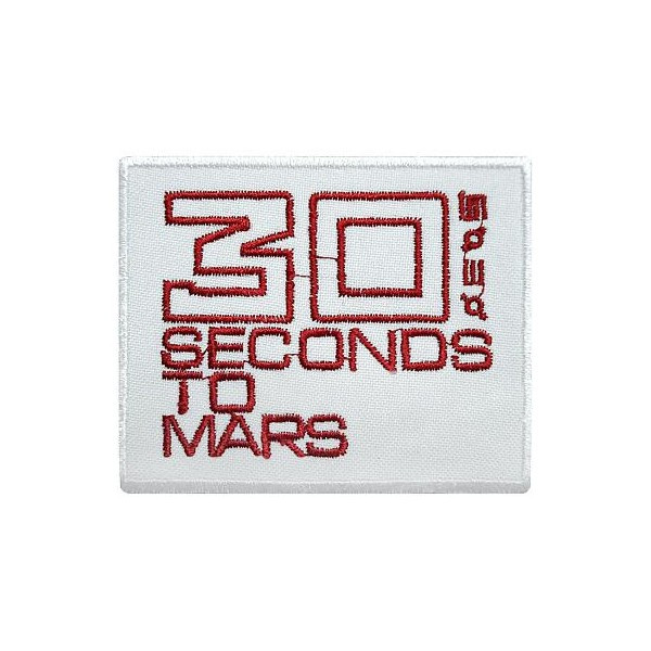 Нашивка вышитая 30 Seconds To Mars White