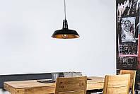Подвесной металлический ретро светильник Heitronic PRAG Ø36см
