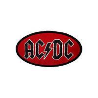 Нашивка вышитая AC DC овал