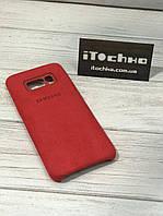 Чехол Alcantara case для Samsung Galaxy S8 Red