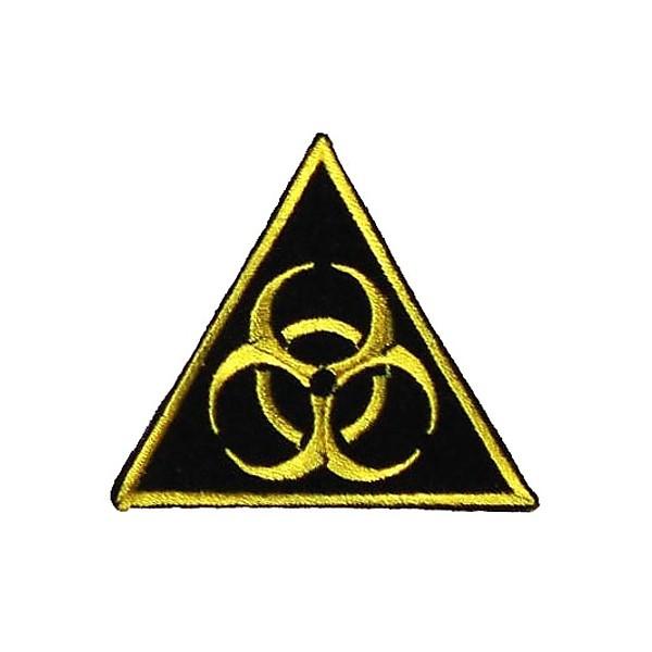 Нашивка вышитая Biohazard треугольная