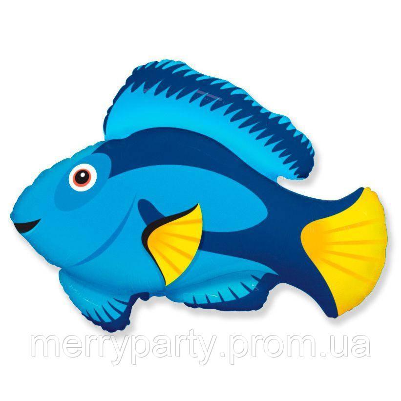 Мини-фигура 31х25 см Рыбка синяя Flexmetal Испания шар фольгированный