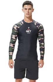 Рашгард с длинным рукавом.Тренировочная футболка для спорта, фитнеса, дайвинга, велоспорта, борьбы.RH02
