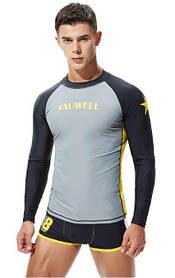Рашгард с длинным рукавом.Тренировочная футболка для спорта, фитнеса, дайвинга, велоспорта, борьбы.RH04