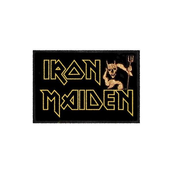 Нашивка вышитая Iron Maiden с чертом