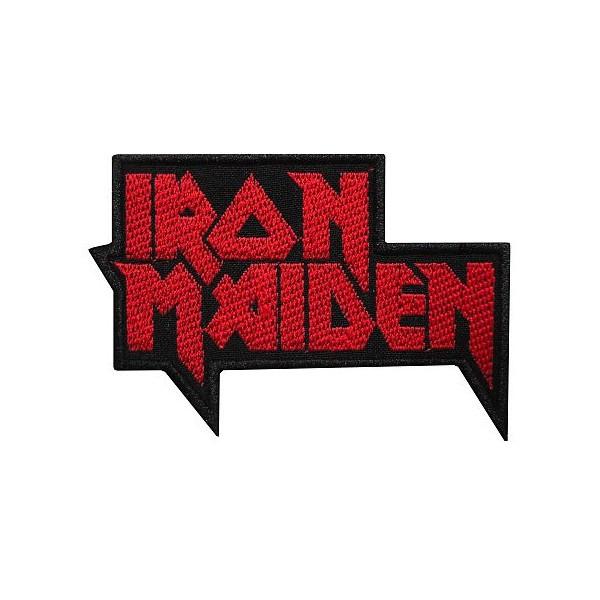 Нашивка вышитая Iron Maiden вырезанная