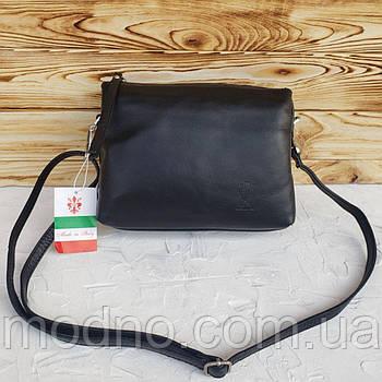 Італійська жіноча шкіряна сумка через плече Vera Pelle
