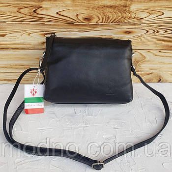 Женская итальянская кожаная сумка через плечо Vera Pelle
