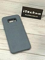 Чохол Alcantara case для Samsung Galaxy S8 Plus Light Blue