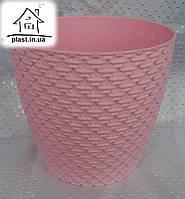 Горшок цветочный пластиковый Элиф пластик 3 л розовый