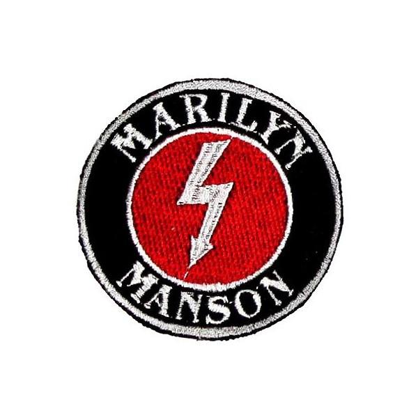 Нашивка вышитая Marilyn Manson круглая