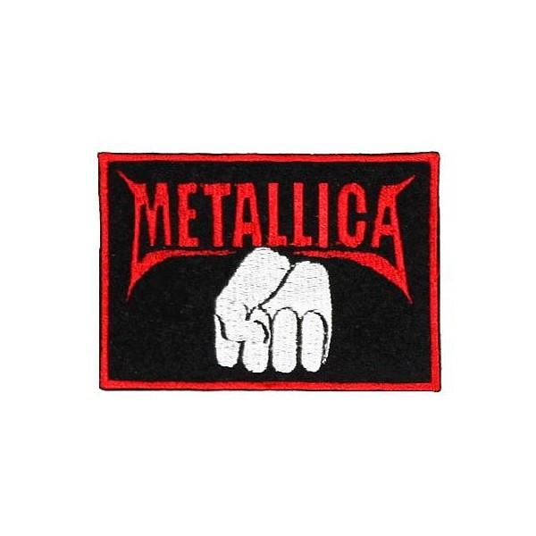 Нашивка вышитая Metallica кулак