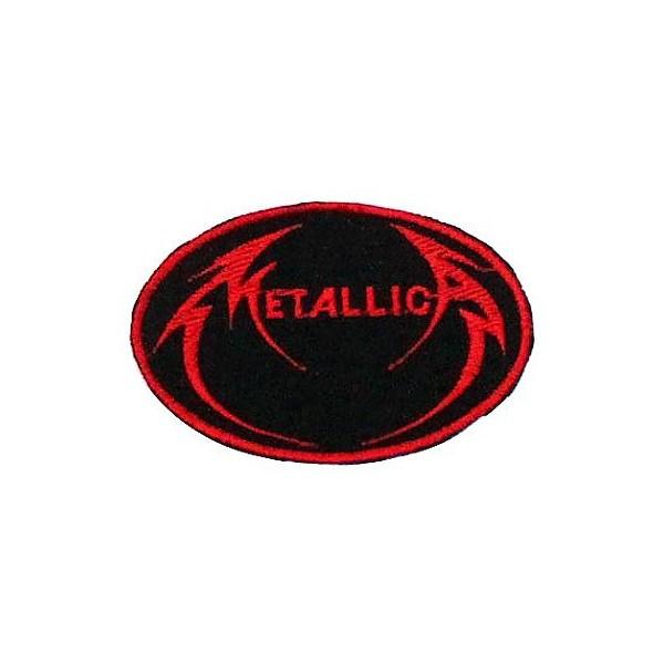 Нашивка вышитая Metallica овал