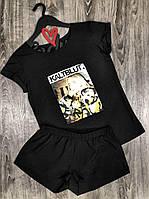 Стильные комплекты для сна и дома, футболка+шорты  Billie Eilish 609 .