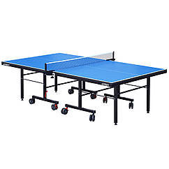 Стол теннисный GSI-Sport MT-0931 (G-profi) (складной,ДСП толщина 25мм, металл, размер 2,74х1,52х0,76м, вес 105кг, синий)