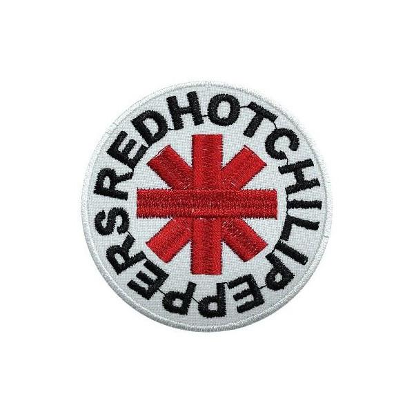 Нашивка вышитая Red Hot Chili Peppers круглая