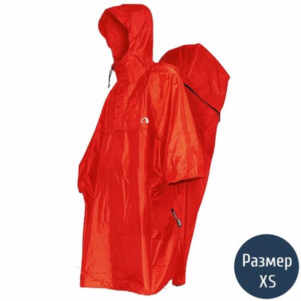 Дощовик-пончо з відділенням для рюкзака Tatonka Cape Men (р. XS), червоний 2794.015