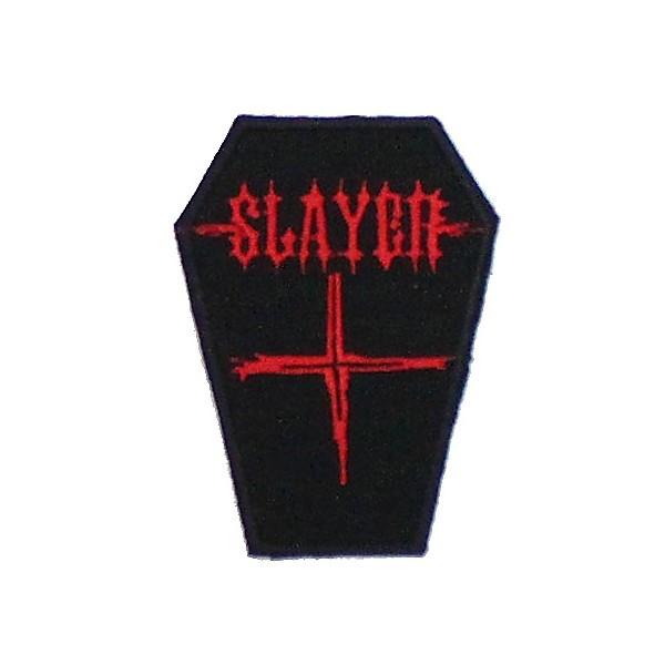 Нашивка вышитая Slayer гроб