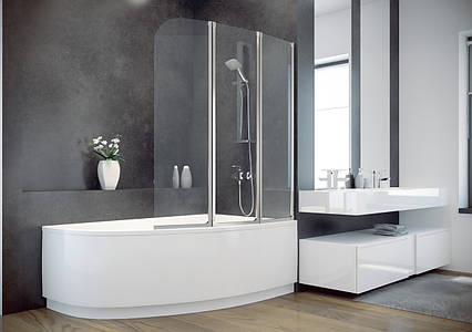 Шторки для ванн Besco PMD Ambition - 3   123x140, фото 2