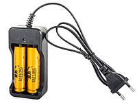 Зарядное устройство на 2 аккумулятора для Li-Ion 3.7 V 18650 с кабелем