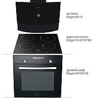 Комплект встраеваемый: Духовой шкаф Elegant B6031BL + Вытяжка M-13 + Варочная панель индукционная IH611TA