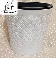 Горшок цветочный пластиковый IrakPlast1,2 литра белый