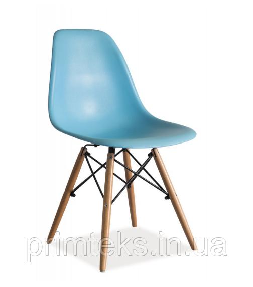 Стул пластиковый Enzo ( Энзо) голубой