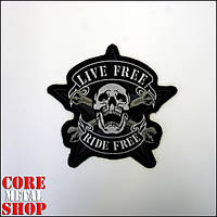 Нашивка Life Free Ride Free