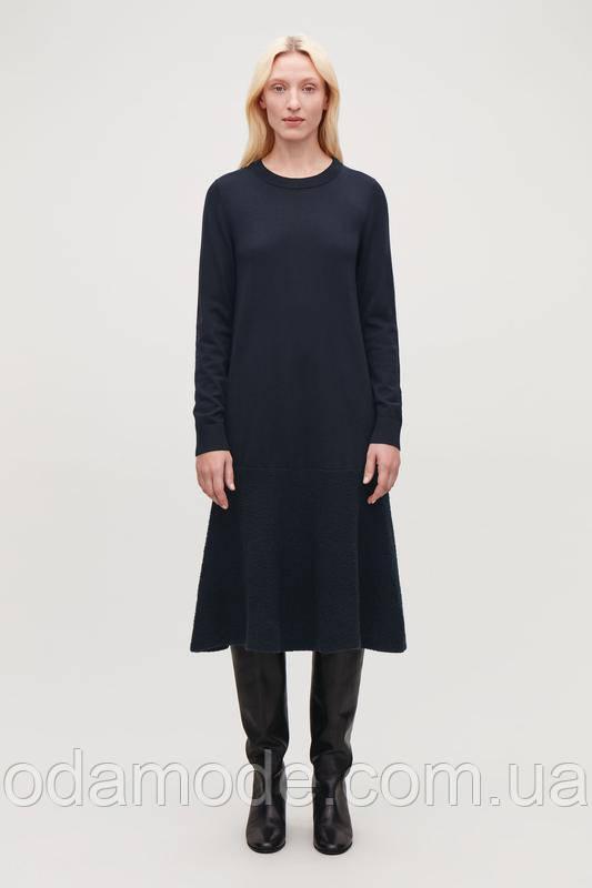 Женское платье  миди синее COS