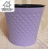 Горшок цветочный пластиковый IrakPlast0,6 литра фиолетовый