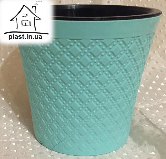 пластиковий горщик квітковий
