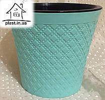 Горшок цветочный пластиковый IrakPlast0,6 литра мятный