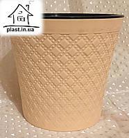 Горшок цветочный пластиковый IrakPlast0,6 литра персиковый