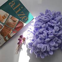 Турецкая фантазийная пряжа Puffy Alize лавандового цвета 146