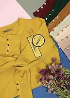 Женский джемпер кофточка кашемир MILANO с пуговицами на рукавах . ОПТ